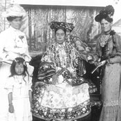 dowager, The Empress Dowager Cixi with foreign envoys' wives in Leshoutang, Summer Palace, Beijing 1903-1905